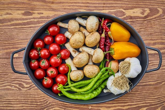 pekáč zeleniny a hub
